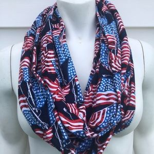 Accessories - Patriotic flannel infinity scarf